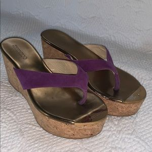 sz 38 Jimmy Choo Pathos purple/cork sandal